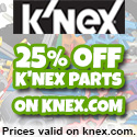 25% off K'NEX Parts on knex.com by K'NEX Industries, Inc.